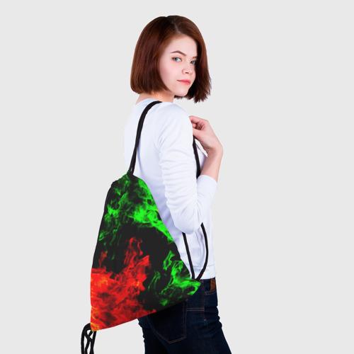 Рюкзак-мешок 3D Огненная битва Фото 01