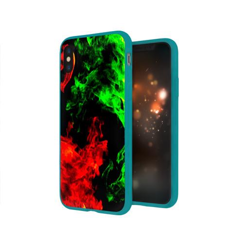 Чехол для Apple iPhone X силиконовый глянцевый Огненная битва Фото 01