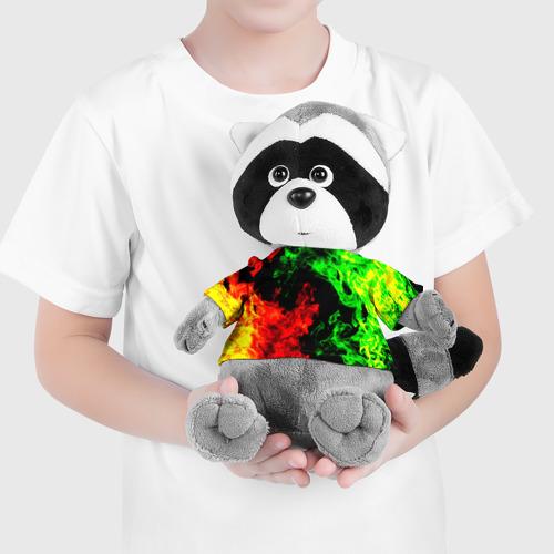 Енотик в футболке 3D Огненная битва Фото 01