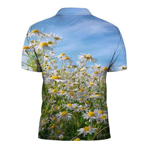 Мужская рубашка поло 3D  Фото 02, Ромашковый рай
