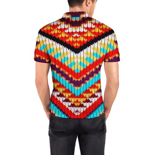 Мужская рубашка поло 3D  Фото 04, Вышивка шерстью