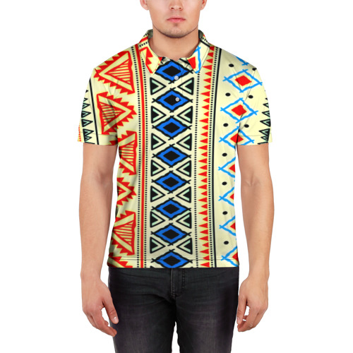Мужская рубашка поло 3D  Фото 03, Африка