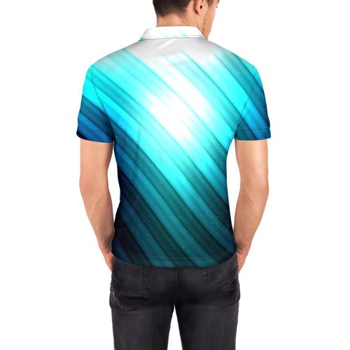 Мужская рубашка поло 3D  Фото 04, В полоску