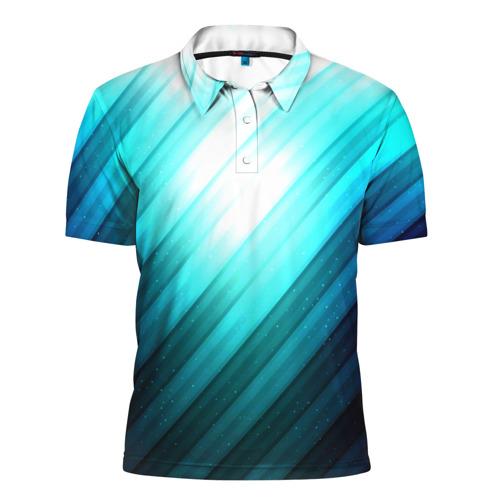 Мужская рубашка поло 3D  Фото 01, В полоску