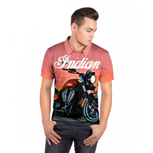 Мужская рубашка поло 3D  Фото 05, Indian 1