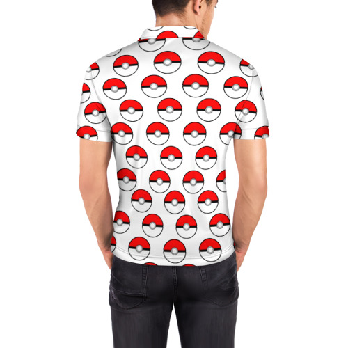 Мужская рубашка поло 3D  Фото 04, Pokemon Pokeball