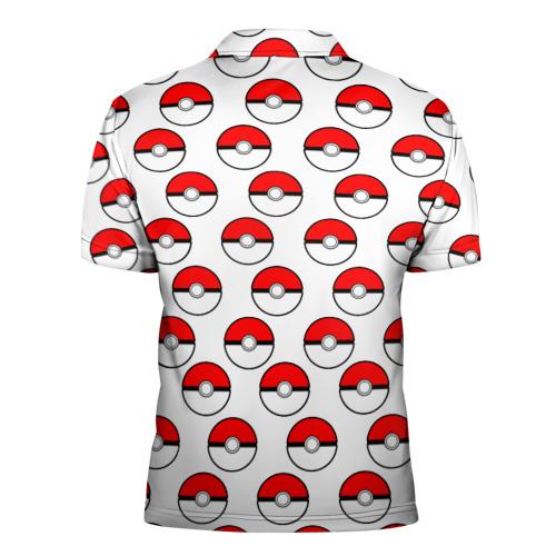 Мужская рубашка поло 3D  Фото 02, Pokemon Pokeball