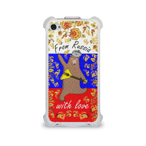 Чехол для Apple iPhone 4/4S flip  Фото 01, From Russia with love