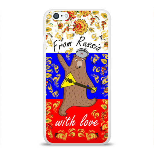 Чехол для Apple iPhone 6Plus/6SPlus силиконовый глянцевый  Фото 01, From Russia with love