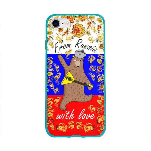 Чехол для Apple iPhone 8 силиконовый глянцевый From Russia with love Фото 01