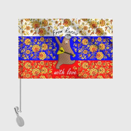 Флаг для автомобиля From Russia with love Фото 01