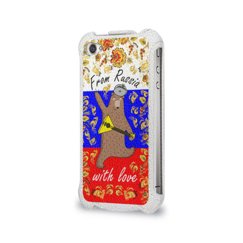 Чехол для Apple iPhone 4/4S flip  Фото 03, From Russia with love