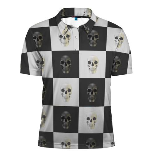 Мужская рубашка поло 3D  Фото 01, Skullchess