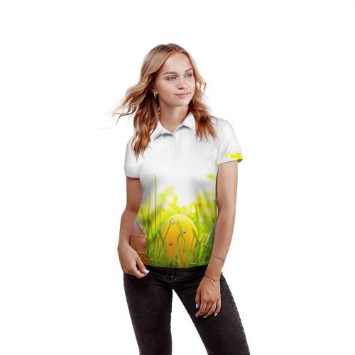 Женская рубашка поло 3D  Фото 03, Пасхальные яйца