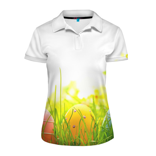 Женская рубашка поло 3D  Фото 01, Пасхальные яйца