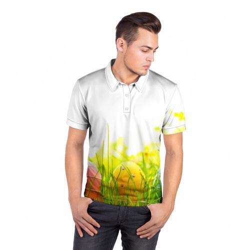 Мужская рубашка поло 3D  Фото 05, Пасхальные яйца