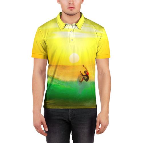 Мужская рубашка поло 3D  Фото 03, Серфинг