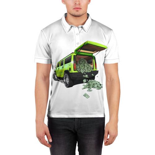 Мужская рубашка поло 3D  Фото 03, HUMMER H2