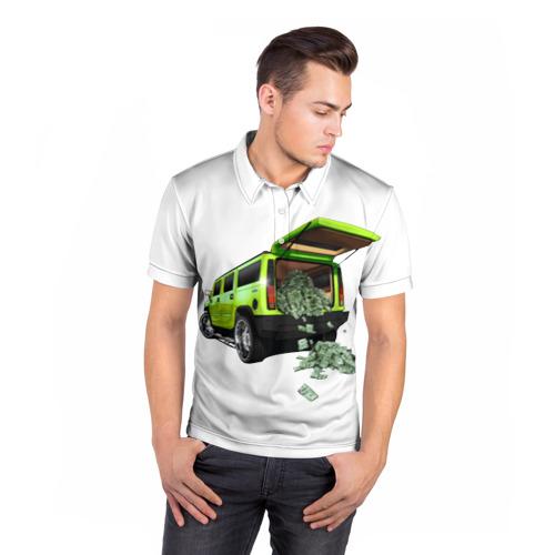 Мужская рубашка поло 3D  Фото 05, HUMMER H2