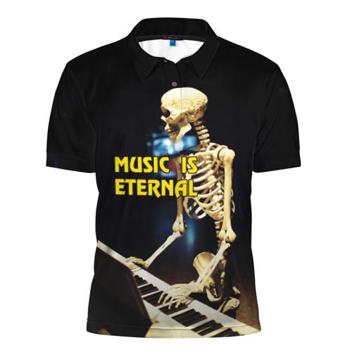 Мужская рубашка поло 3D  Фото 01, Музыка вечна 3