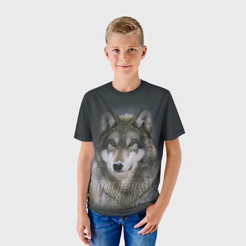 Детская футболка 3D Моя волчица