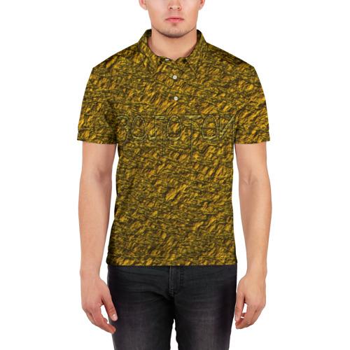 Мужская рубашка поло 3D  Фото 03, Золотой