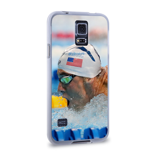 Чехол для Samsung Galaxy S5 силиконовый  Фото 02, Майкл Фелпс