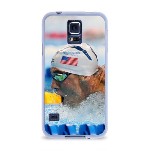 Чехол для Samsung Galaxy S5 силиконовый  Фото 01, Майкл Фелпс