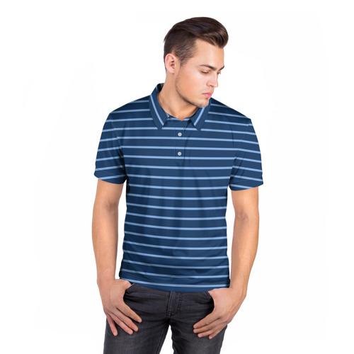 Мужская рубашка поло 3D  Фото 05, Полосы