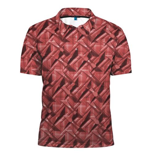 Мужская рубашка поло 3D  Фото 01, Текстура,  тиснение