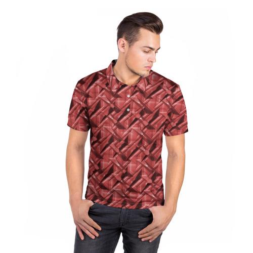 Мужская рубашка поло 3D  Фото 05, Текстура,  тиснение