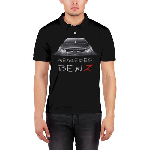 Мужская рубашка поло 3D  Фото 03, Мерседес Бенц