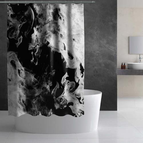 Штора 3D для ванной Дым Фото 01