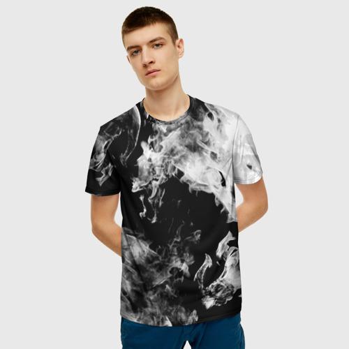 Мужская футболка 3D Дым Фото 01
