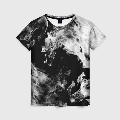 Женская футболка 3D Дым Фото 01
