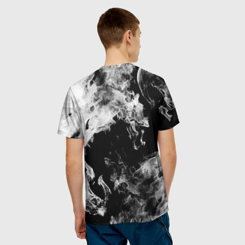Мужская футболка 3D 'Дым'