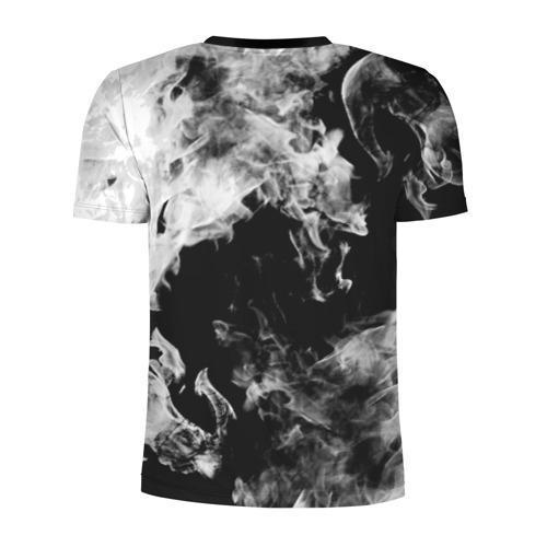 Мужская футболка 3D спортивная Дым Фото 01
