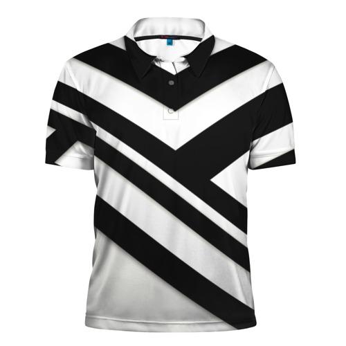 Мужская рубашка поло 3D  Фото 01, Геометрия