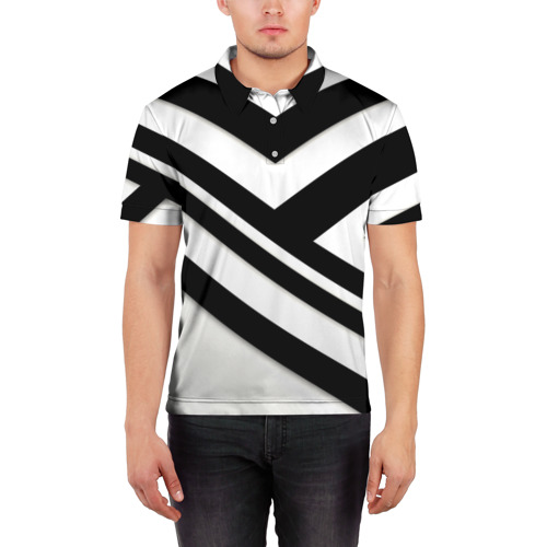 Мужская рубашка поло 3D  Фото 03, Геометрия