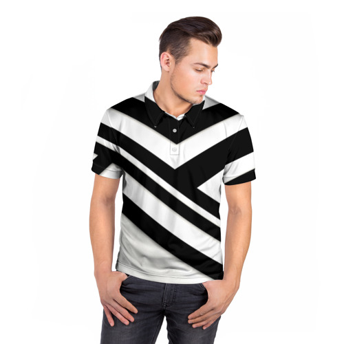 Мужская рубашка поло 3D  Фото 05, Геометрия