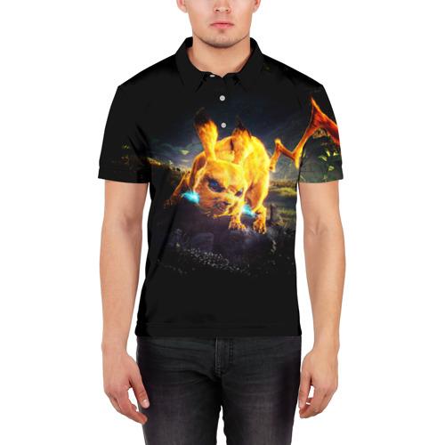 Мужская рубашка поло 3D  Фото 03, Пикачу