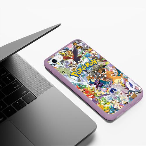 Чехол для iPhone 6Plus/6S Plus матовый Покемоны Фото 01