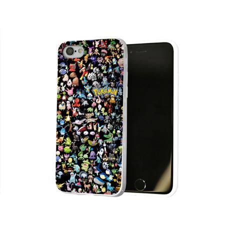 Чехол для Apple iPhone 8 силиконовый глянцевый  Фото 02, Покемоны