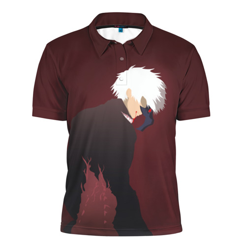 Мужская рубашка поло 3D  Фото 01, Kaneki kun