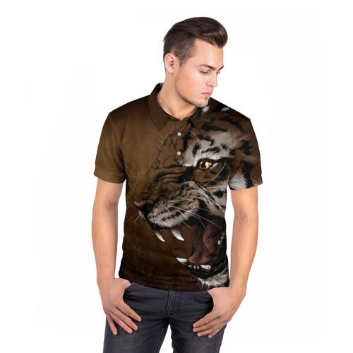 Мужская рубашка поло 3D  Фото 05, Милый котик