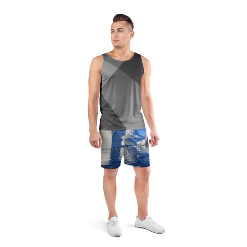 Мужские шорты 3D спортивные  Фото 04, Айсберг