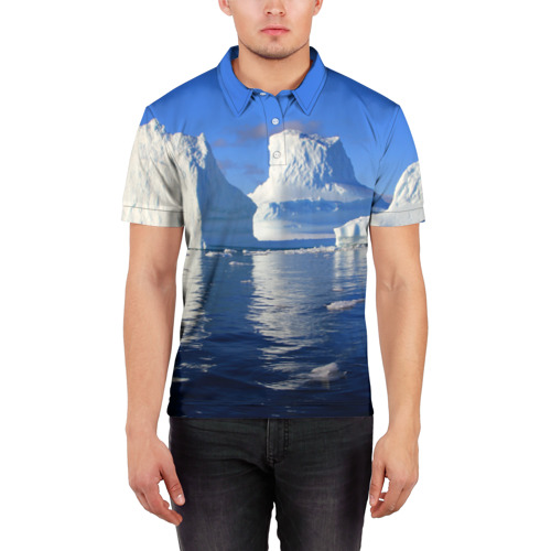 Мужская рубашка поло 3D  Фото 03, Айсберг