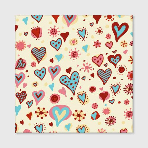Холст квадратный  Фото 02, Сердечный орнамент 2