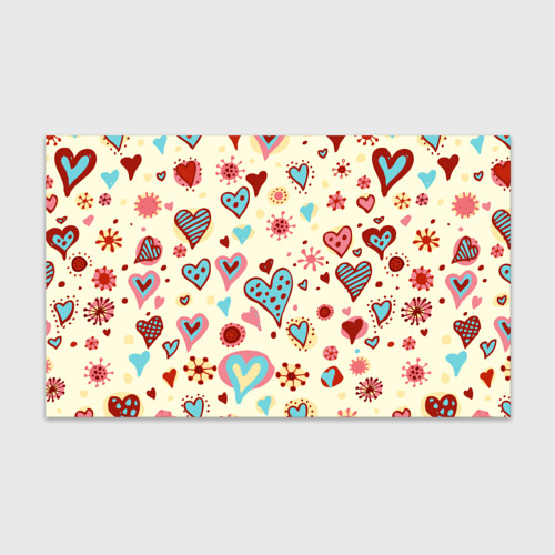 Бумага для упаковки 3D  Фото 01, Сердечный орнамент 2