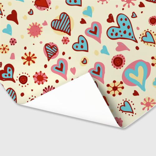 Бумага для упаковки 3D  Фото 03, Сердечный орнамент 2